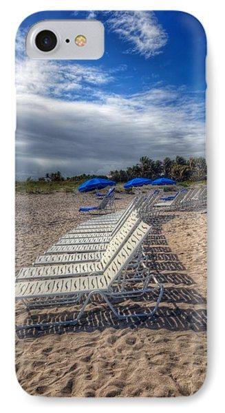 Beach Shadows IPhone Case by Debra and Dave Vanderlaan