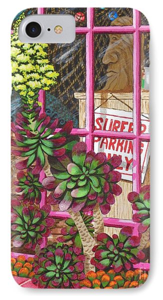 IPhone Case featuring the painting Beach Side Storefront Window by Katherine Young-Beck