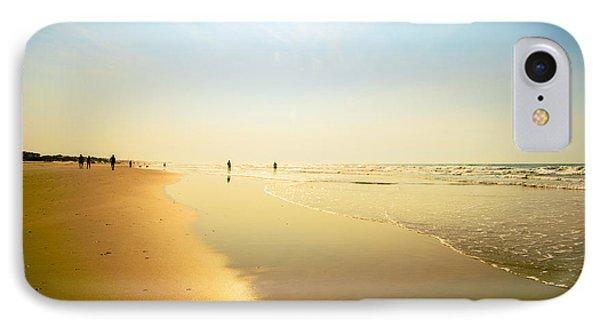 Beach Silhouettes 2 IPhone Case by John Harding