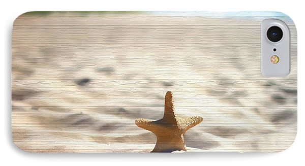 Beach Starfish Wood Texture IPhone Case by Dan Sproul