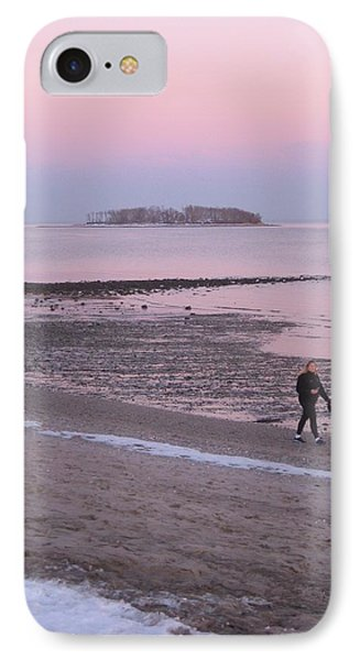 Beach Stroll IPhone Case by John Scates