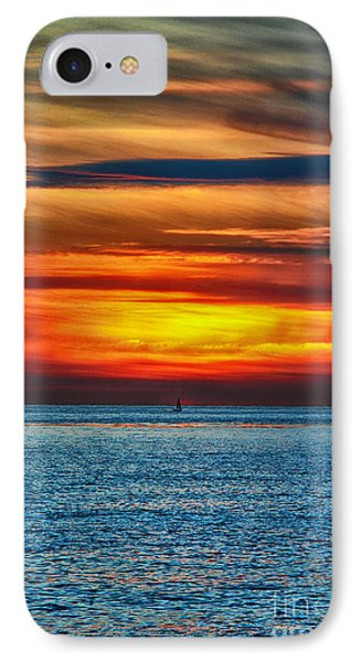 IPhone Case featuring the photograph Beach Sunset And Boat by Mariola Bitner