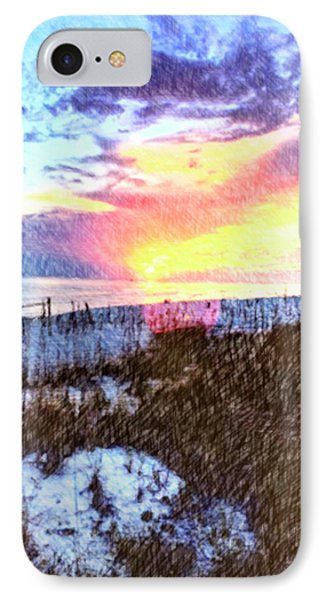Beach Sunset IPhone Case by Susan Leggett