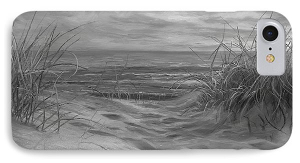 Beach Time Serenade - Black And White IPhone Case by Lucie Bilodeau
