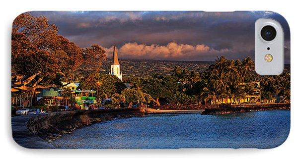 Beach Town Of Kailua-kona On The Big Island Of Hawaii IPhone Case
