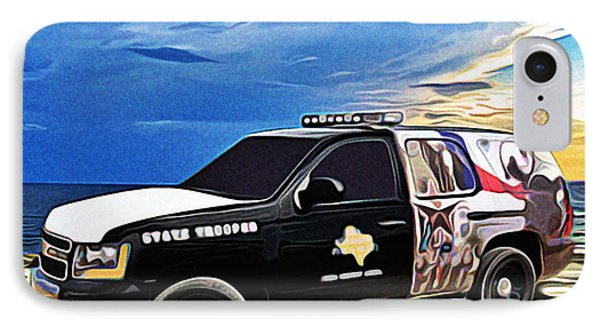 Beach Trooper 4x4 Cruiser On A Texas Morning IPhone Case by Chas Sinklier