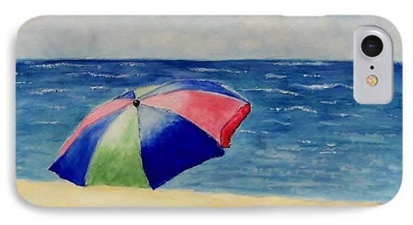 IPhone Case featuring the painting Beach Umbrella by Jamie Frier
