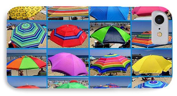 Beach Umbrella Medley Phone Case by Mitchell R Grosky