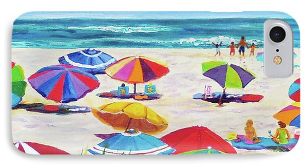 Umbrellas 2 IPhone Case by Anne Marie Brown