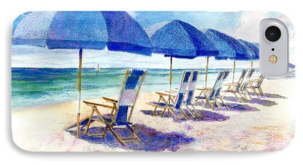 Beach Umbrellas IPhone Case by Andrew King