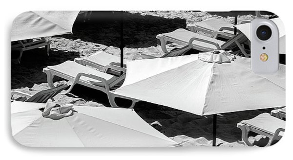 IPhone Case featuring the photograph Beach Umbrellas by Marion McCristall