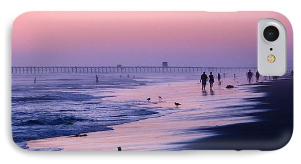 IPhone Case featuring the photograph Beach Walk by Jan Cipolla