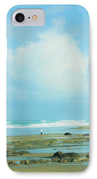 IPhone Case featuring the photograph Beach Walk Painted by Mary Jo Allen