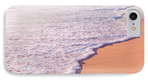 Beach Waves At Sunset  IPhone Case by Ariane Moshayedi
