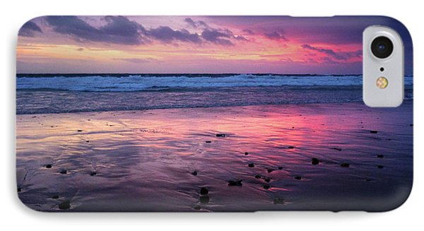 Beach Winter Sunset 2 IPhone Case by Carlos Caetano