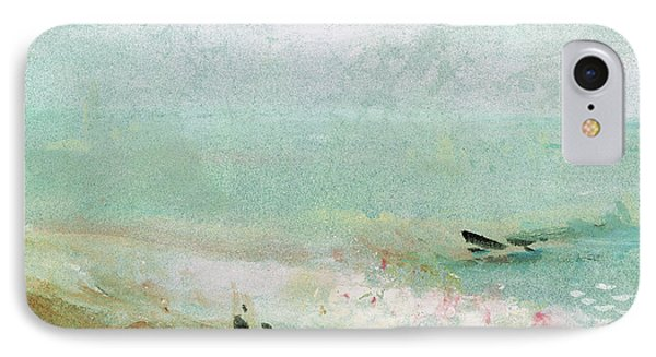 Beach With Figures And A Jetty IPhone Case by Joseph Mallord William Turner
