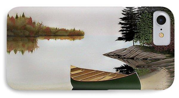 Beached Canoe In Muskoka IPhone Case