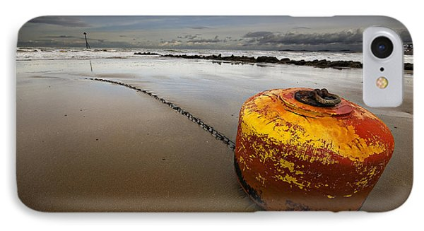 Beached Mooring Buoy Phone Case by Meirion Matthias