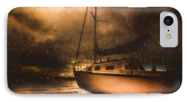 Beached Sailing Boat IPhone Case by Jorgo Photography - Wall Art Gallery