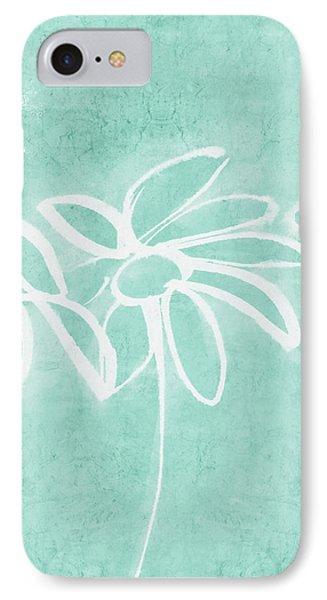 Beachglass And White Flowers 3- Art By Linda Woods IPhone Case