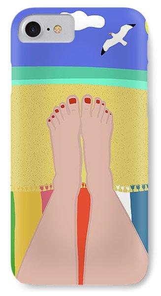 Beachy Keen IPhone Case by Nicole Wilson