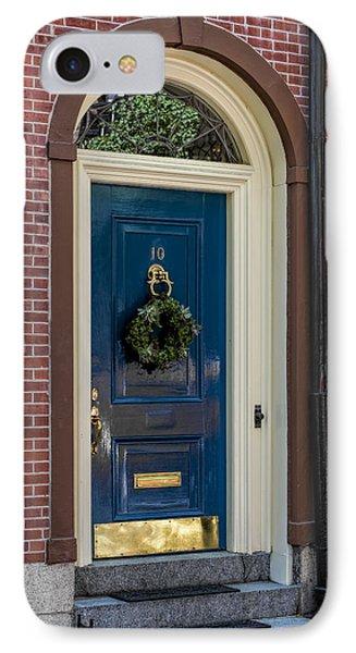 Beacon Hill Door  IPhone Case by Susan Candelario
