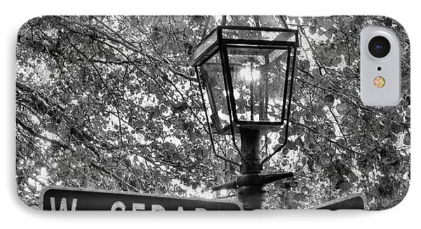 Beacon Hill Lamppost In Black And White IPhone Case by Joann Vitali