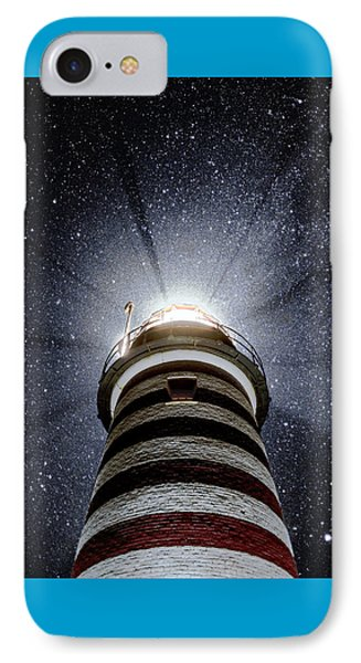 Beacon In The Night West Quoddy Head Lighthouse IPhone Case by Marty Saccone