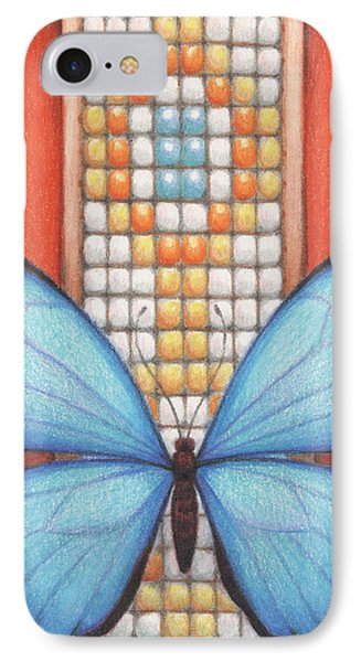 Beaded Morpho Phone Case by Amy S Turner