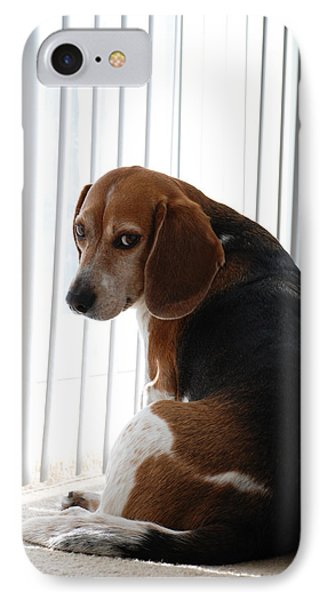 Beagle Attitude IPhone Case by Jennifer Ancker