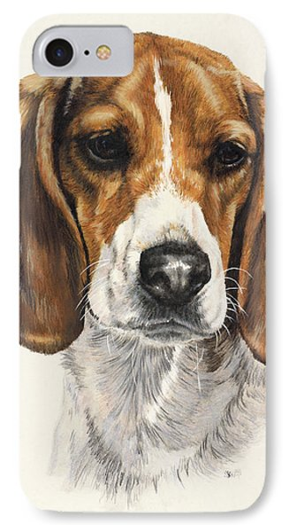 Beagle IPhone Case by Barbara Keith