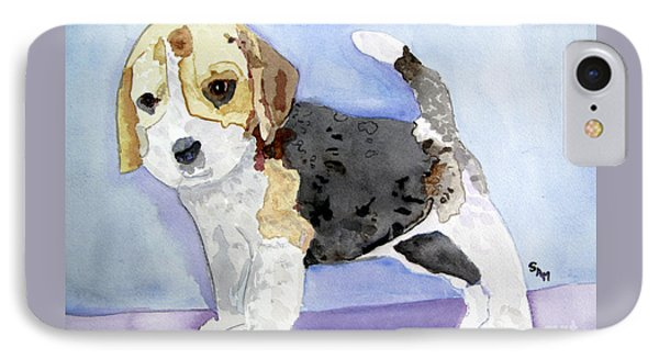 Beagle Pup IPhone Case by Sandy McIntire