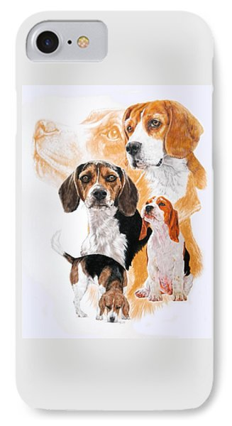 Beagle W/ghost IPhone Case by Barbara Keith