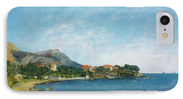 IPhone Case featuring the painting Bealieu - The Bay Of Fourmis by Eugene Boudin
