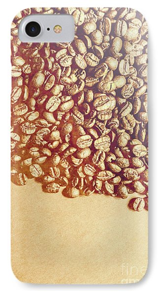 Bean Background With Coffee Space IPhone Case by Jorgo Photography - Wall Art Gallery