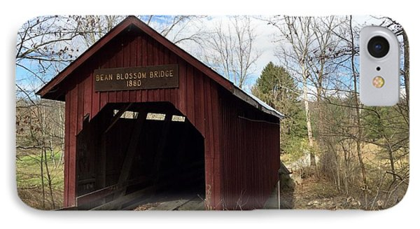 Bean Blossom Bridge, 1880 IPhone Case by Russell Keating