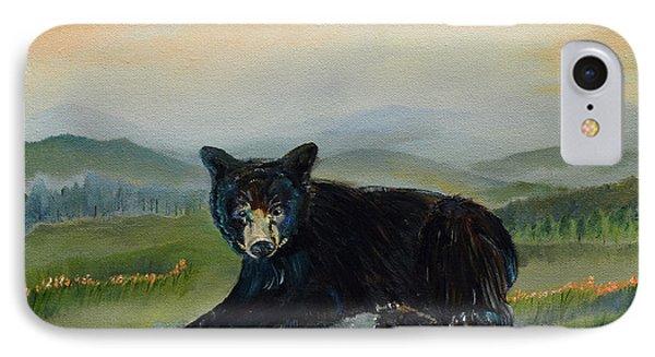 Bear Alone On Blue Ridge Mountain IPhone Case by Jan Dappen