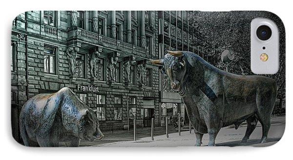 bear and bull Frankfurt IPhone Case