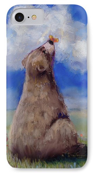 Bear And Butterfly IPhone Case by Billie Colson