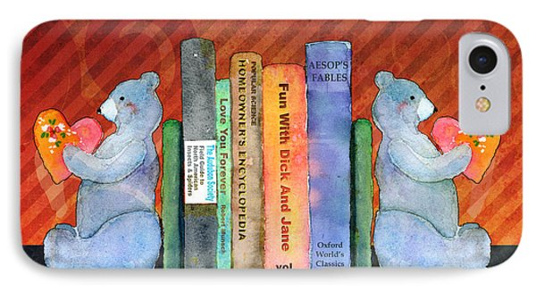 Bear Bookends Phone Case by Arline Wagner