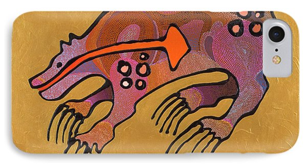 IPhone Case featuring the painting Bear Deity by Bob Coonts