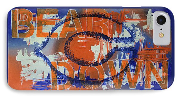 IPhone Case featuring the painting Bear Down by Melissa Goodrich