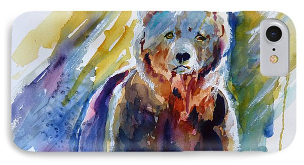 IPhone Case featuring the painting Bear From The Woods by P Maure Bausch