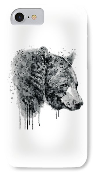 Bear Head Black And White IPhone Case