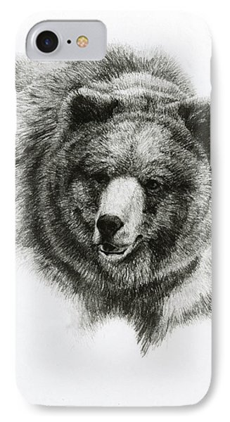 Bear IPhone Case by Heather Theurer
