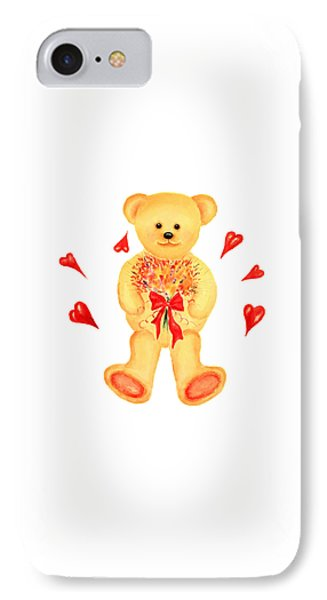 IPhone Case featuring the painting Bear In Love by Elizabeth Lock