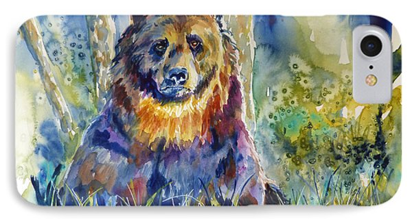 Bear In The Woods 2 IPhone Case by P Maure Bausch