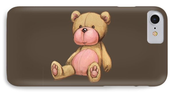 Bear Pink IPhone Case by Andy Catling