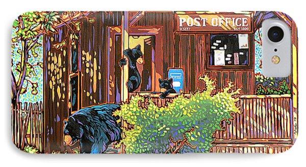 Bear Post Phone Case by Nadi Spencer
