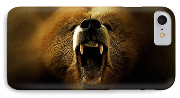 Bear Roar IPhone Case by Lilia D